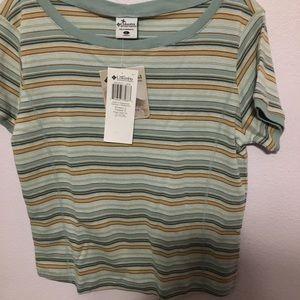 NWT Columbia L 100% Cotton striped T